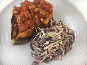 Hearty Homemade Baked Beans, Jacket Potato & Coleslaw