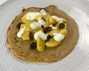 Healthy Buckwheat Pancakes with Apple, Raisin & Cinnamon